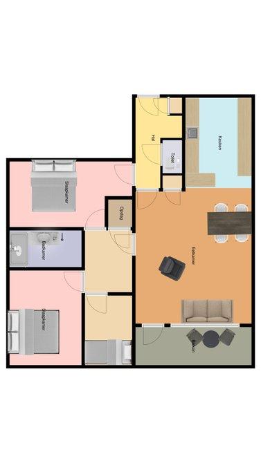 Slaapkamer 1: ca. 13 m2 Slaapkamer 2: ca. 6,6 m2 Slaapkamer 3: ca. 14 m2 Badkamer: Voorzien van douchecabine, handdoekradiator, wastafelmeubel en wasmachine aansluiting Bijzonderheden: -Bouwjaar 1978 -Snel beschikbaar -Energie label G -Blokverwarming -Erfpacht